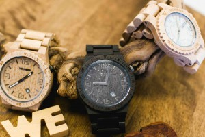 Wewood watches close up
