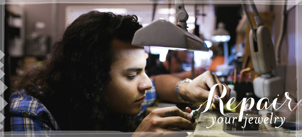 Jeweler making repairs